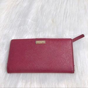 Kate Spade Burgundy Snap Wallet